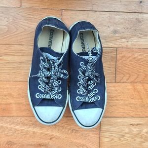 Converse Navy Low Tops
